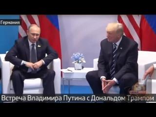 Путин и Трамп проводят встречу на саммите G20. Путин уверенно расслаблен