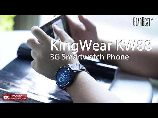 Gearbest Review: KingWear KW88 3G Smartwatch Phone - Gearbest.com