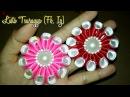 DIY || Membuat bunga dari Pita Satin/ Kanzashi Flower 05 🌸 - Lista Tsurayya Tutorial