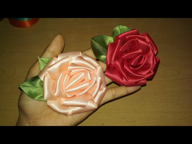 DIY || Cara Membuat Bunga Mawar Ribbon Flower Rose 02 🌸 - Lista Tsurayya Tutorial