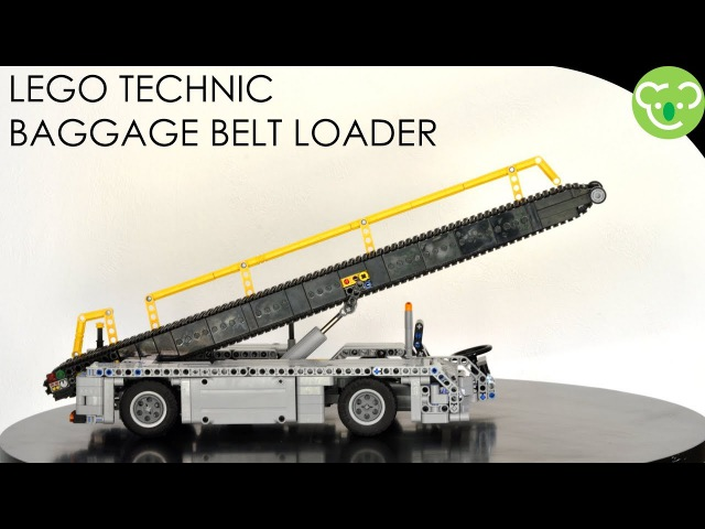 Airport Baggage Belt Loader - MOC Lego Technic with SBrick