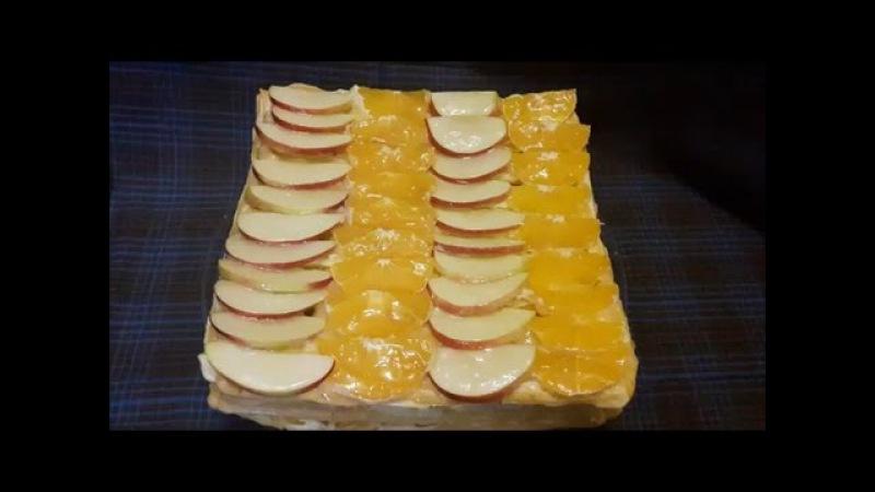 Торт ТРОПИКАНКА Рецепт ОЧЕНЬ вкусного торта ТОРТ на ЗАВАРНОМ тесте Торт рецепт C...