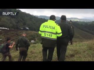 Авиакатастрофа в Колумбии видео с места трагедии авиакатастрофы с футболистами...