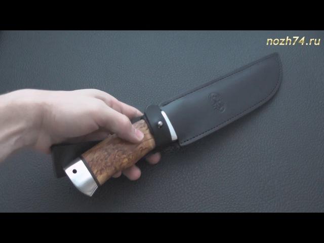 Нож Робинзон-1 (Карельская береза, 100Х13М) - nozh74.ru