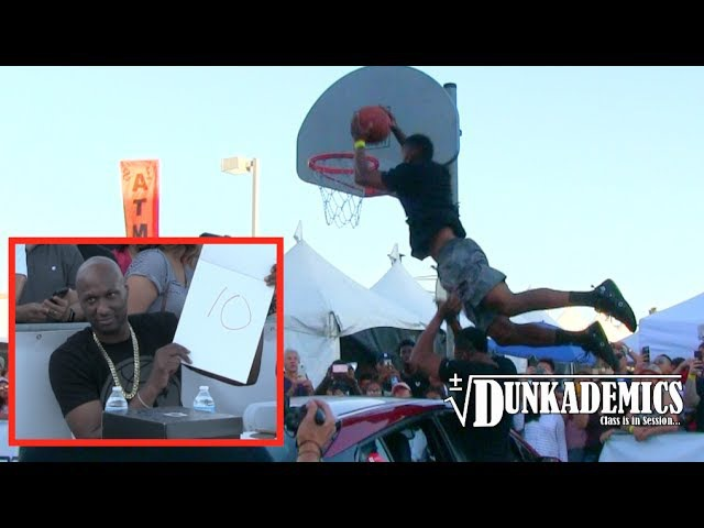 Reemix Dunks Over a Car in Front of Lamar Odom @ Q4 Dunk Contest!