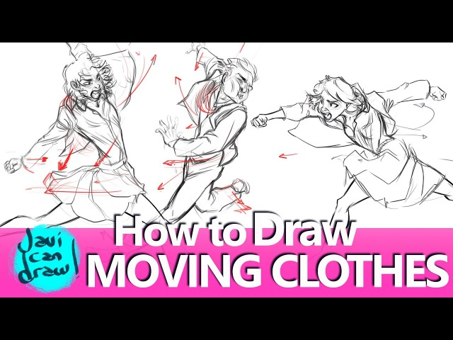 THE THREE SECRETS TO DRAW CLOTHES IN MOTION