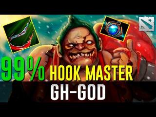 GH-GOD Pudge 99% Hook Master Dota 2