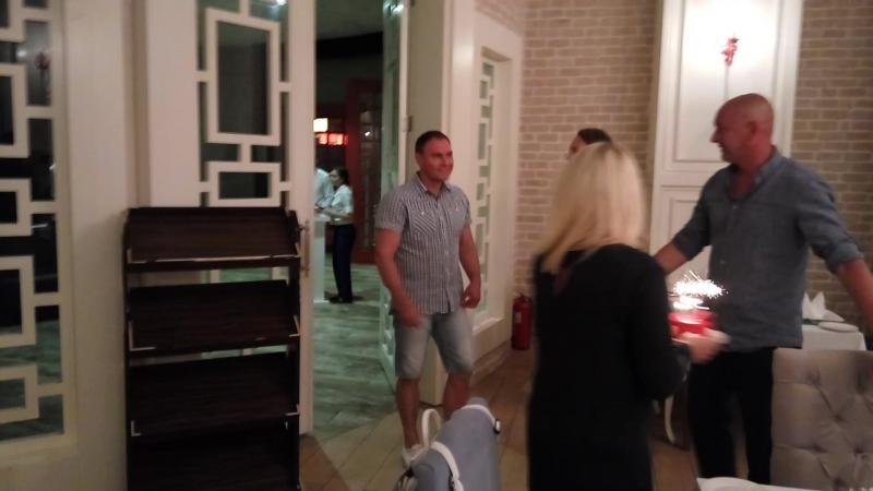 День рождения Лехи Молчанова в итальянском ресторане