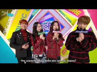 [RUS SUB][22.10.16] Jungkook & J-Hope Special MC @ Music Core