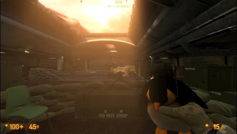 Black Mesa в стиме. Аддон OP4 Penguin Weapon Snark Reskin2