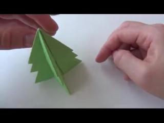 Как сделать Елку из бумаги _ Новогодние поделки