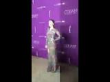 Лили на 19-ой «Премии гильдии дизайнеров костюмов» в Лос-Анджелесе, 21/02/17.