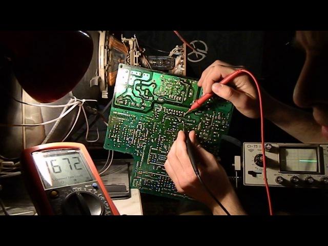Ремонт телевизора Supra делаем кадровую развертку