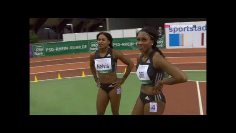 Alina Talay 7.97 wins 60m Hurdles Heat 1 - PSD Bank Dusseldorf Indoor Meeting 2017