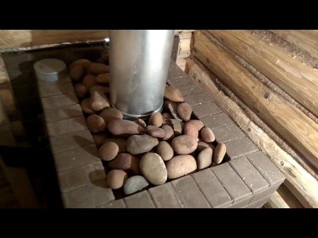 Баня с ТЕРРАСОЙ Печь в саркофаге НОВЫЙ проект под ключ