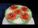 Украшение тортов КРЕМ для украшения из растительных сливок Мастер класс по цвет