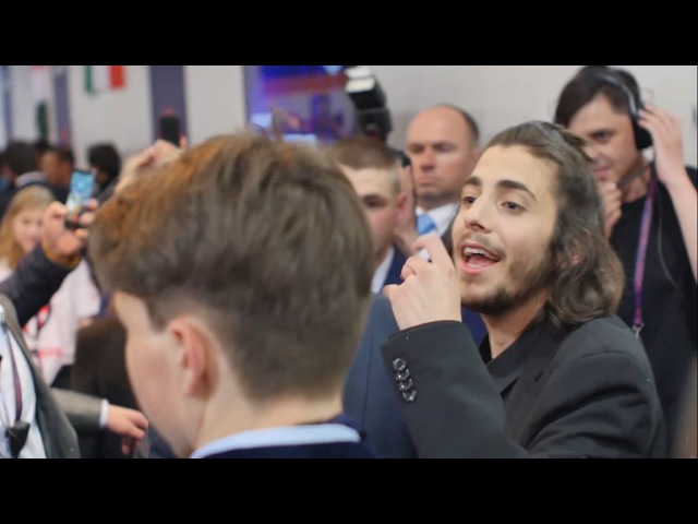 First minutes of Salvador Sobral after winning Eurovision 2017