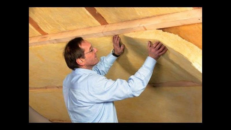 Теплоизоляция крыши дома Шума подавление капель дождя