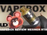 VAPEBOX Review MESMER RTA Обзор клиромайзера Месмер
