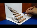 How to draw Stairway to Heaven 3D Trick Art on Paper