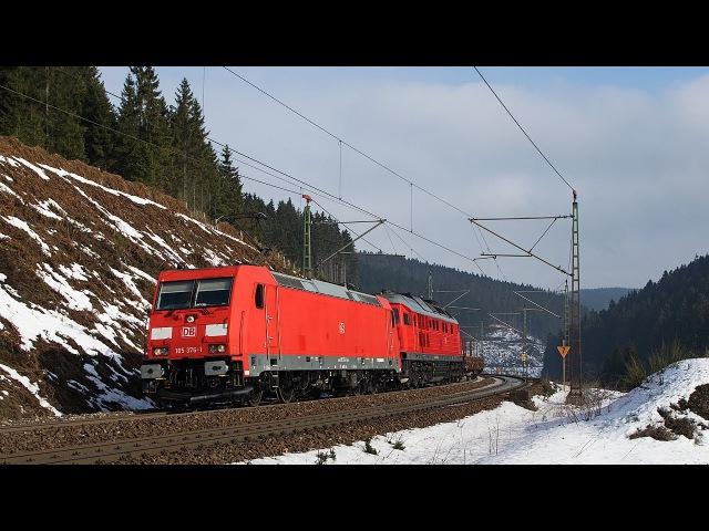 Güterzüge im Frankenwald Umgebung TXL EVB Rheincargo Twindexx