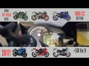 Top 2017 motorcycles 320 Km H comparison 1000 CC Suzuki BMW Yamaha Kawasaki more