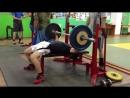 Канафин Нургиз жим 70 кг на 6 . вес 58 кг