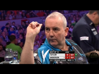 Phil Taylor vs Gary Anderson (2017 Premier League Darts / Week 12)