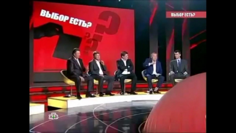 Жириновский - скандал на НТВ