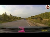 В Сети появилось видео лобового столкновения мотоцикла с машиной под Тулой