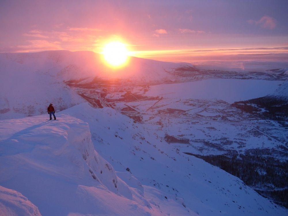 восход в Хибинах