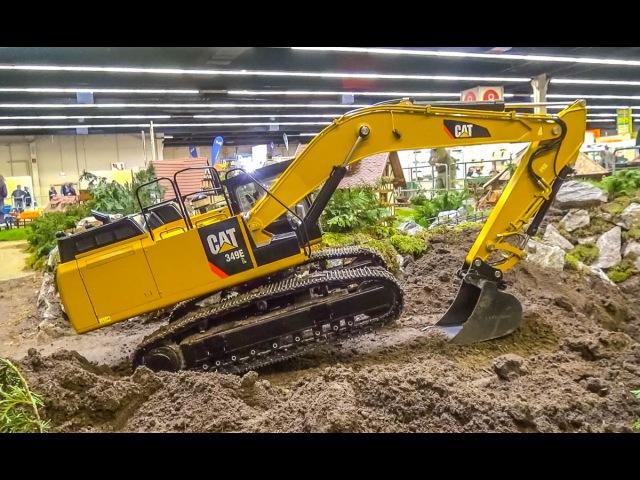 155 kg! RC Excavator in HUGE 1/8 scale! R/C Caterpillar Action!