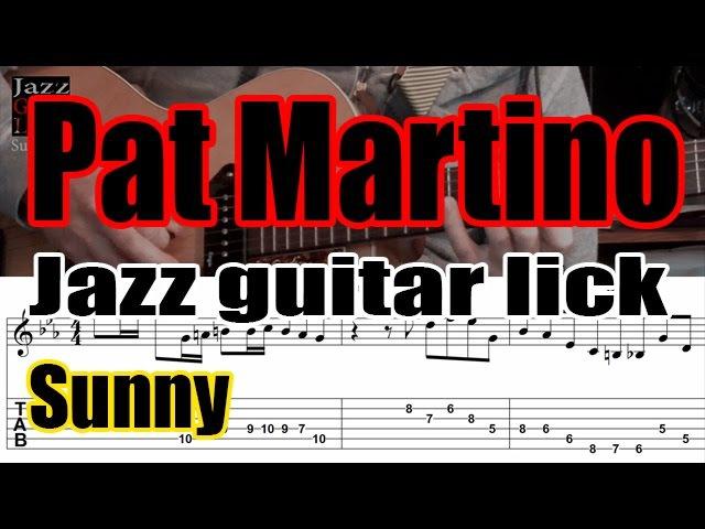 Pat Martino jazz guitar lick - Sunny solo transcription (4 bars) - Part 2 of 2