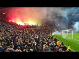 2017-02-16 MANCHESTER UNITED - Saint-Etienne. French fans fire show