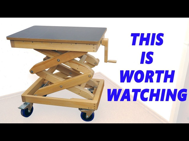 Homemade Wooden Lifting Table