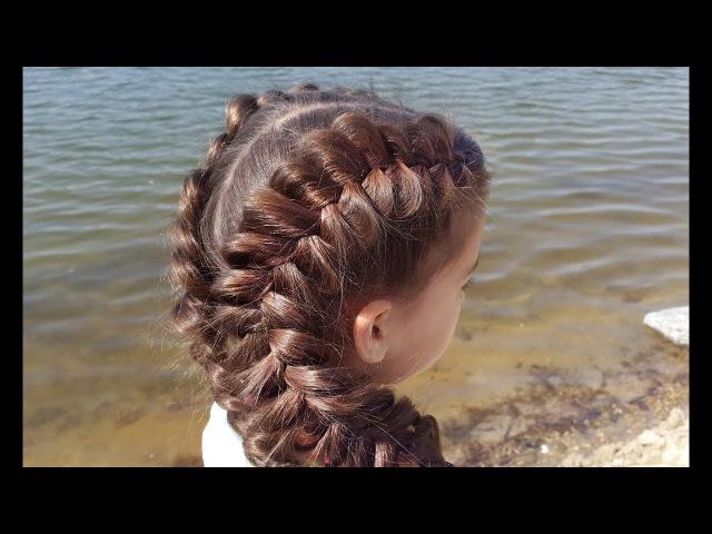 Объемные косы. Обратные французские (голландские) Voluminous dutch braids