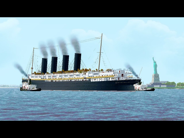 Vehicle Simulator - The Sinking of the RMS Lusitania - PART 1