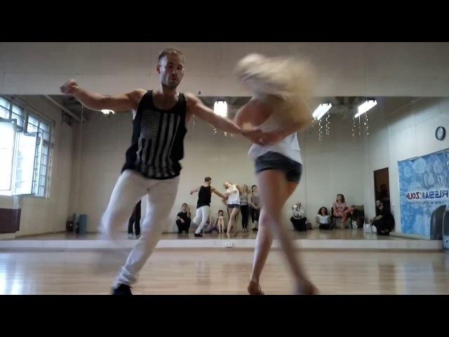 Maxim Anastasia Zouk advanced demo at Ipanema dance studio