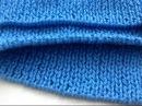 Набор петель на спицы крючком для округлого низа изделия как при машинной вязке не итальянский