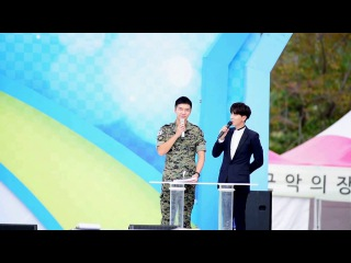 161003 계룡군문화축제 활주로행사 MC이승기 이특 멘트(특전사 생활내용)