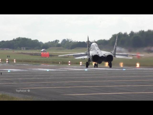 Вертикальный взлёт МиГ 29 и F 22 RAPTOR