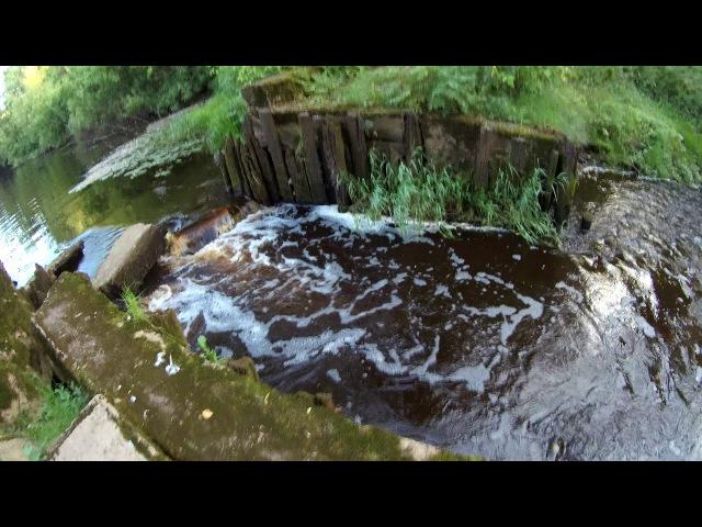 4K UltraHD video Под каменным мостом через устье Вязитского ручья