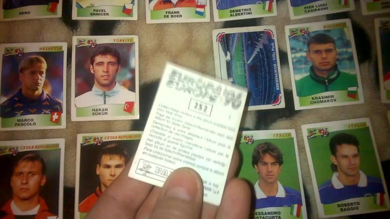 Panini Footboll Europa 1996