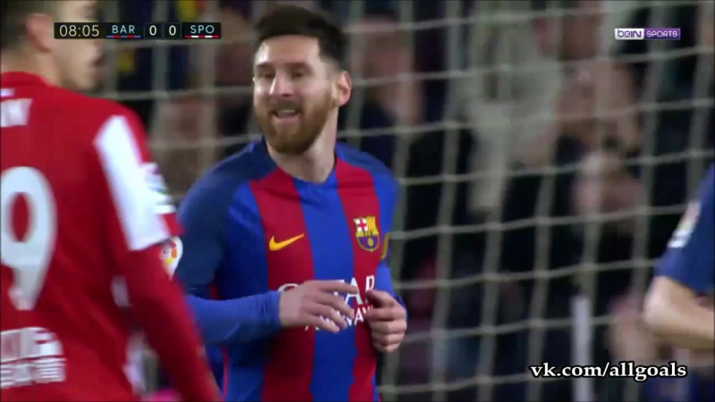 Барселона Спортинг гол Месси