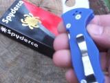 Spyderco C85GP2 Yojimbo 2 blue