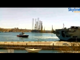 Мальта. Флагман Королевского Военно-морского флота и вертолётоносец HMS OCEAN L12 заходит в порт Валлетта. 10.03.2017.)