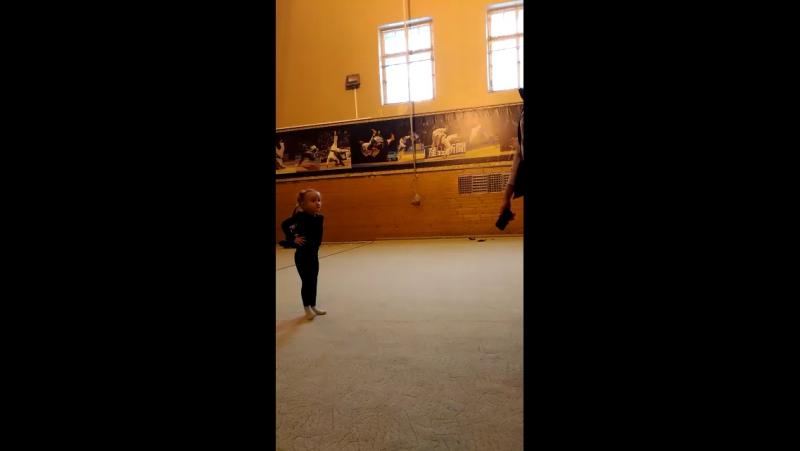 Учебно-тренировочный процесс Кротова Настя 2013 г.р. и тренер Жевакина Ксения Романовна