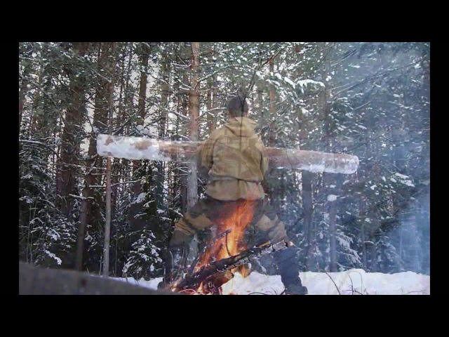 Зимняя тренировка в лесу