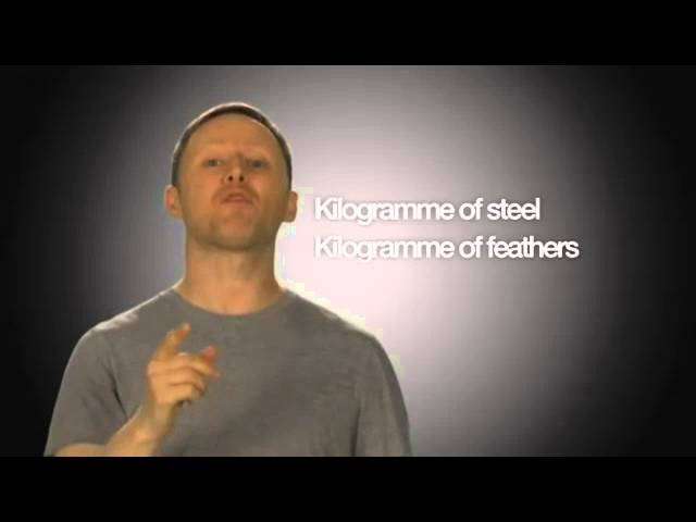 But steel is heavier than feathers