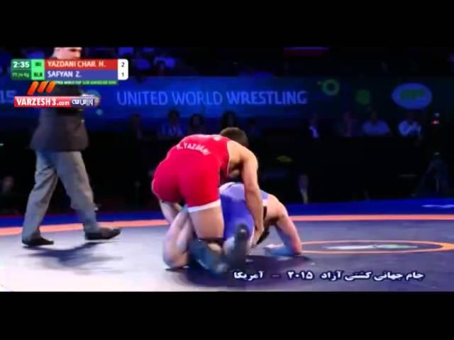 Hassan YAZDANI CHARATI (IRI) df. Zhan SAFYAN (BLR) by TF, 12-1 Round 1 FS - 70 kg:
